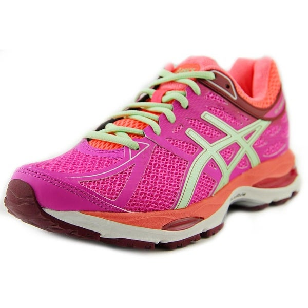 Asics Gel-Cumulus 17 Women Pink Glow/Pistachio/Flash Coral Running Shoes