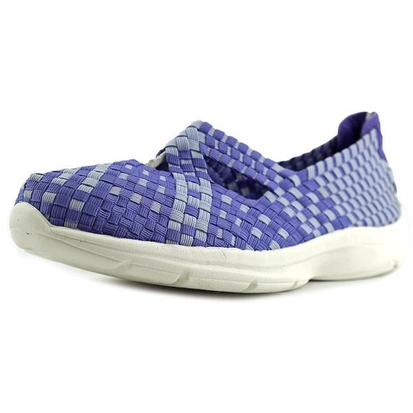 Easy Spirit e360 Quest Women Round Toe Canvas Purple Walking Shoe