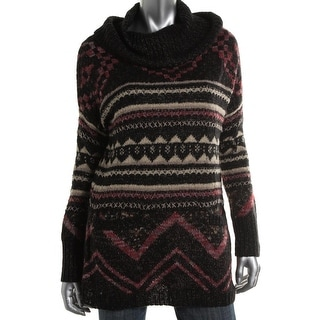 Lucky Brand Womens Juniors Wool Pattern Pullover Sweater - M