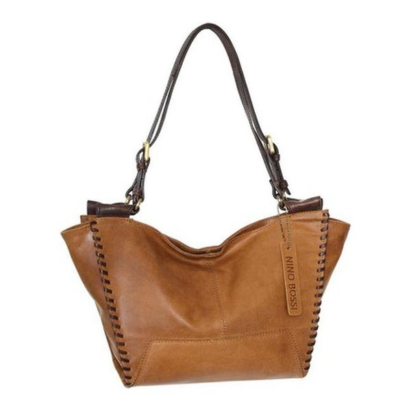 14fea6b5f6aa Shop Nino Bossi Women s Frederica Leather Satchel Saddle - US Women s One  Size (Size None) - On Sale - Free Shipping Today - Overstock - 25773945