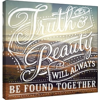 "PTM Images 9-101022  PTM Canvas Collection 12"" x 12"" - ""Truth & Beauty 2"" Giclee Beauty Art Print on Canvas"
