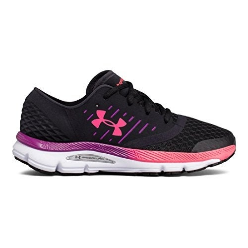 Shop Under Armour Women s UA Speedform Solstice Black Purple Rave Penta  Pink Athletic Shoe - Free Shipping Today - Overstock - 20984283 6a6a7ceff8