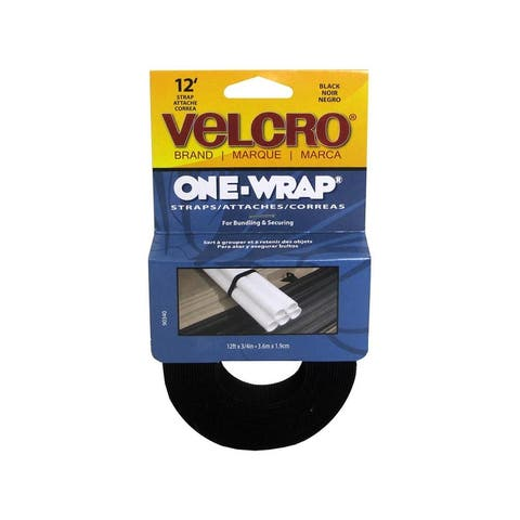 90340 velcro one wrap roll 75 x12ft black