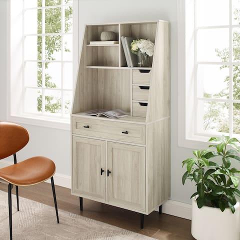 Carson Carrington Modern Desk & Hutch Cabinet