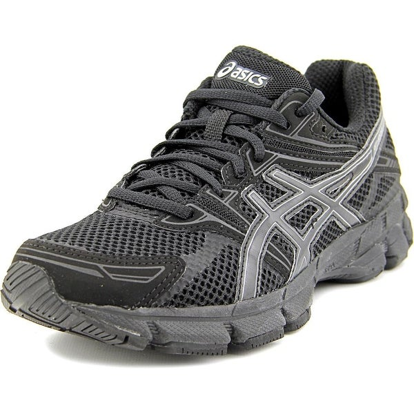 Asics GT-1000 4 GS Women D Round Toe Synthetic Black Running Shoe