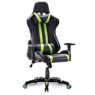Costway Executive Racing Style High Back Reclining Chair Gaming Chair Office Computer - Green