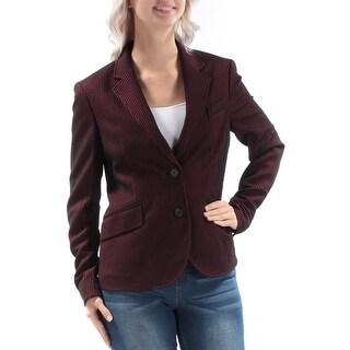 ANNE KLEIN $149 Womens New 1219 Black Pinstripe Blazer Casual Jacket 6 B+B