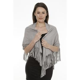 Women's Faux Suede Fringed Cape Shawl Wrap Scarf, Large Triangle|https://ak1.ostkcdn.com/images/products/is/images/direct/f62f3ff42780478c5a6311389263f94390272607/Women%27s-Faux-Suede-Fringed-Cape-Shawl-Wrap-Scarf%2C-Large-Triangle.jpg?impolicy=medium