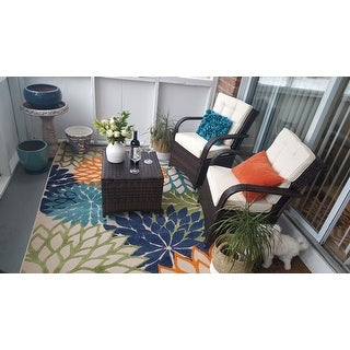 Nourison Aloha Floral Indoor/Outdoor Area Rug