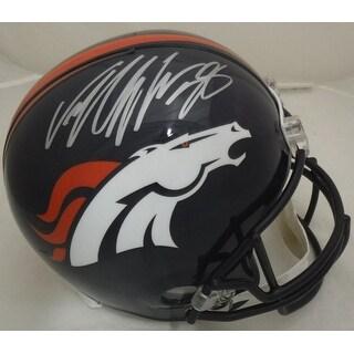 Von Miller Autographed Denver Broncos Full Size Replica Helmet Name Only JSA