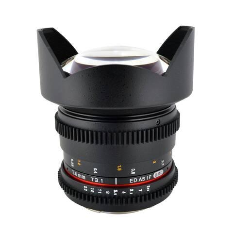 "ROKINON 14mm T3.1 ""Cine"" IF ED Super Wide-Angle Lens for Canon - Black"