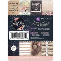 """Wild & Free Journaling Notecards 3""""X4"""" 45/Pkg-15 Double-Sided Designs/3 Each"""