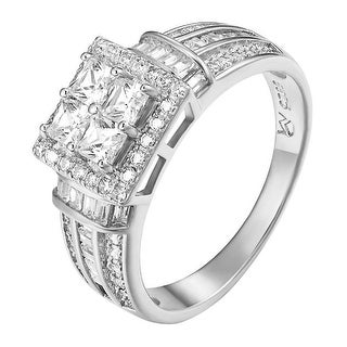 925 Sterling Silver Solitaire Princess Cut Wedding Engagement Ring Ladies Classy