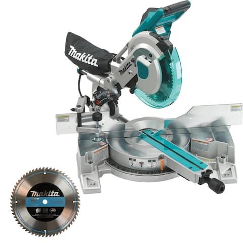 "Makita 10"" Dual Slide Compound Miter Saw w/ Laser Set"