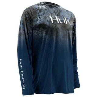 Huk Men's Kryptek Fade Icon Neptune Large Long Sleeve Shirt
