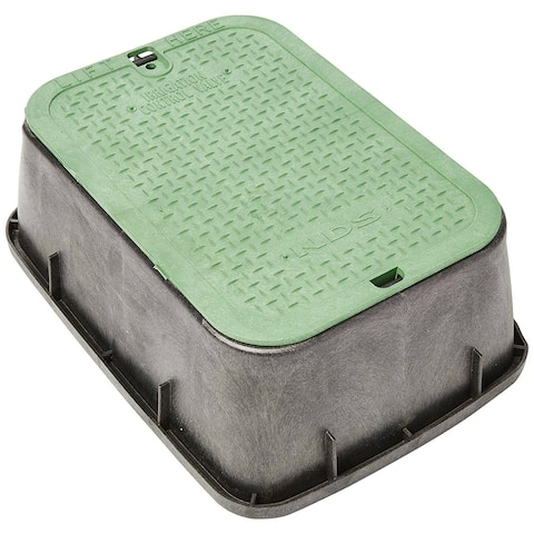"NDS 115 Black Valve Box Extension with Green Cover, 14"" x 19"""