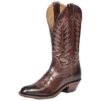Boulet Western Boots Mens Cowboy Leather Goodyear Ranch Hand Tan