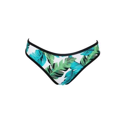 Hula Honey Green White Torrid Tropics Palm-Print Hipster Bikini Bottom L
