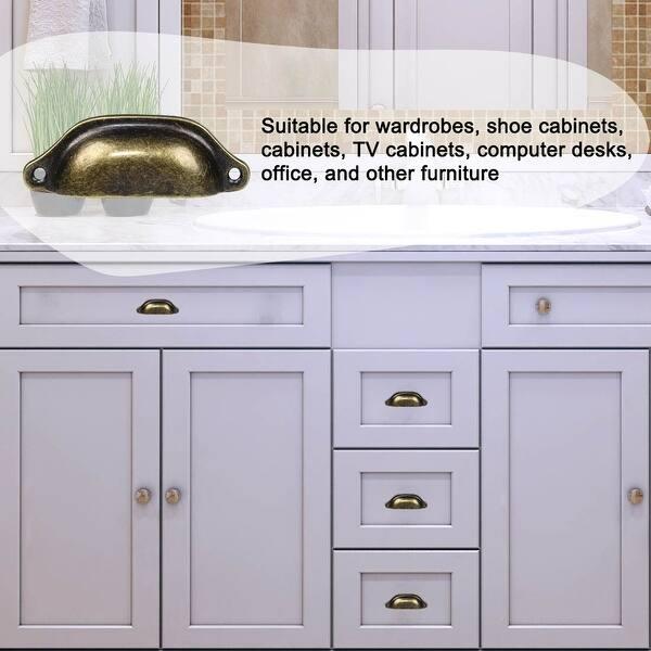 Bin Cup Pulls 3 3 Hole Center Cabinet Handle Dressers Vintage 5pcs Vintage Bronze Tone On Sale Overstock 28883035
