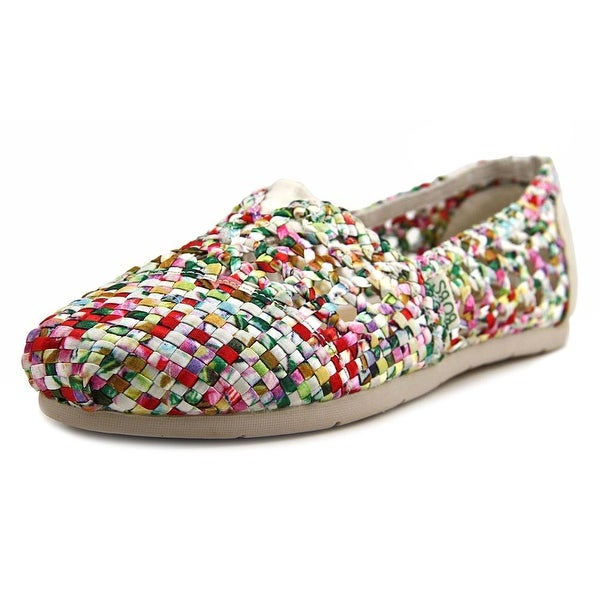 Bobs by Skechers Luxe Bobs-Fresh Cut Women Round Toe Canvas Multi Color Loafer