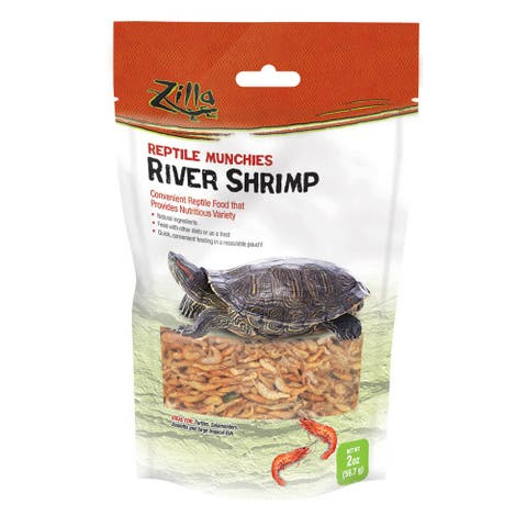 Zilla Reptile Munchies River Shrimp 2 ounces - 2 ounces