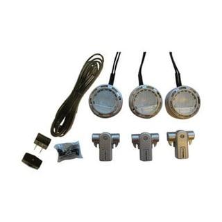Westek XLV30KC Xenon Line Voltage Accent Puck Light Kit, Nickel, Pk/3