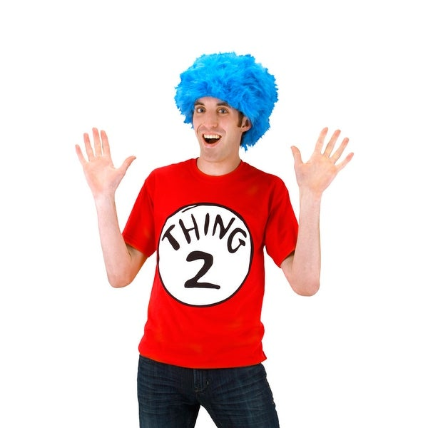 2398e6bf8364 Shop Elope Dr Seuss Thing 2 Adult T-Shirt Kit (L) - Solid - Free Shipping  On Orders Over $45 - Overstock - 21331455
