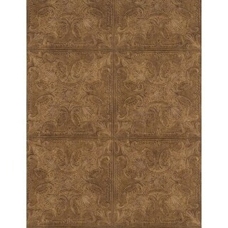 York Wallcoverings PA131206 Weathered Finishes Tin Tile Wallpaper