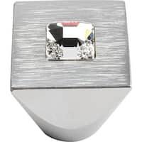 """Atlas Homewares 3195 1"""" Square Cabinet Knob - matte chrome"""