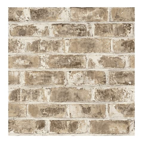 Jomax Neutral Warehouse Brick Wallpaper - 20.5 x 396 x 0.025