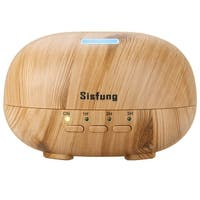 Essential Oil Diffuser - 300mL Ultra Quiet Wood Grain Aromatherapy Diffuser - Ultrasonic Cool Mist, 7 color LED