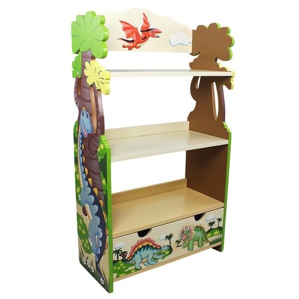 """Fantasy Fields - Dinosaur Kingdom Bookshelf - 22""""W x 10.25""""L x 37.75""""H"""