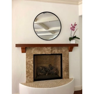 "Martin Svensson Home 36"" Framed Round Wall Mirror"