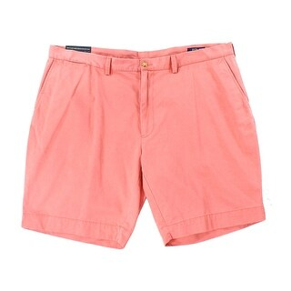 Polo Ralph Lauren NEW Pink Mens Size 38 Flat-Front Chino Solid Shorts