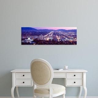 Easy Art Prints Panoramic Images's 'Salt Lake City, Utah, USA' Premium Canvas Art