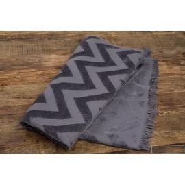 Turkish Cotton Towel Zig Zag Pattern Gray Black Bath,Beach Towel 71'x36'
