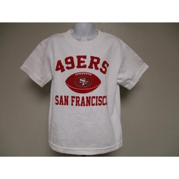 3fed52e6 San Francisco 49ers NFL Team Apparel Kids Medium M (5/6) White Shirt
