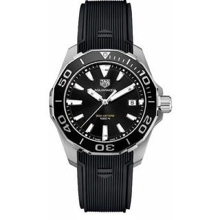 Link to Tag Heuer Men's WAY111A.FT6068 'Aquaracer' Black Rubber Watch Similar Items in Women's Watches