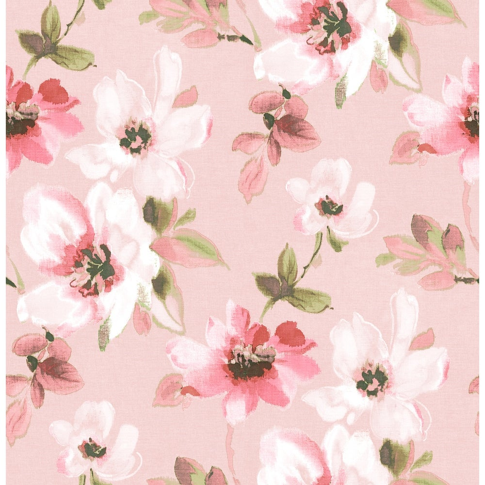 Brewster  HN002659   Kids 56-3/8 Square Foot - Reign - Unpasted Paper Wallpaper - Pink (Pink)
