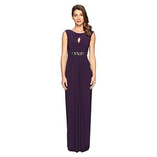 Adrianna Papell Women's Embellished Jersey Gown with Keyhole