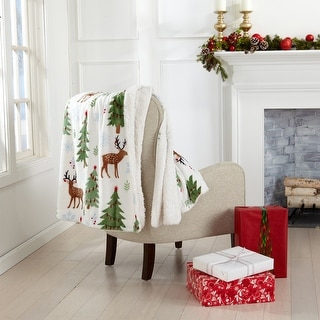 Link to Super Soft Holiday Printed Sherpa Reversible Luxury Throw Blanket Similar Items in Blankets & Throws