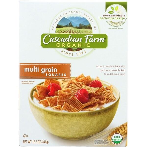 Cascadian Farm Cereal - Organic - Multi-Grain Squares - 12.3 oz - case of 10