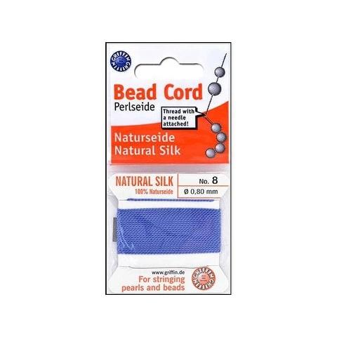 Beadalon Griffin 100% Silk Bead Cord Sz8 2M Blue