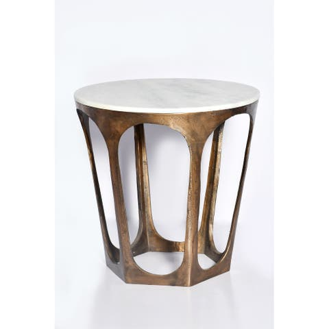 Castle Side Table Satined Antique Brass