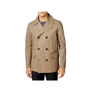 Tommy Hilfiger Mens Pea Coat Long Sleeves Double Breasted