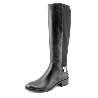 Michael Michael Kors Hamilton Stretch Boot Women Round Toe Leather Black