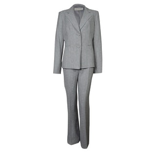 Evan Picone Women's Work Smart Woven Two Button Pant Suit