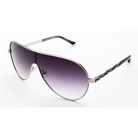 Judith Leiber Women's Royal Plisse Sunglasses Platinum - Small