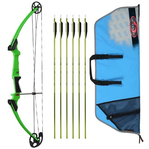 Genesis Archery Original Bow (RH, Green) with 6 NASP Arrows and Case