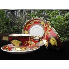 Versace Luxury European Medusa Fine China Coffee & Tea Set
